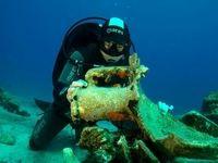 کشف بقایای کشتی 2000ساله در یونان +عکس