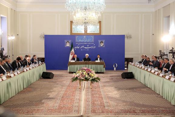 روحانی: ظریف نخبه و مجتهد سیاسی است/ سیاست خارجه مربوط به کل ملت ایران است نه یک گروه و جناح