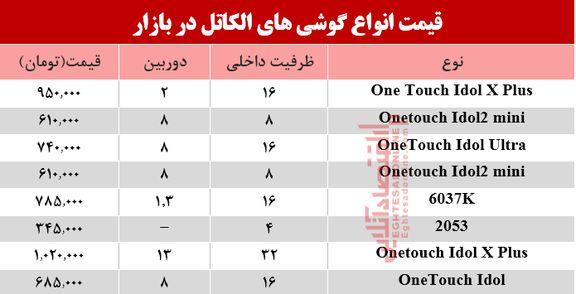موبایلهای الکاتل موجود در بازار چند؟+جدول