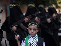 رژه زنان ارتشی فلسطین +عکس
