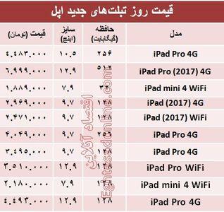 قیمت جدیدترین تبلتهای اپل؟ +جدول