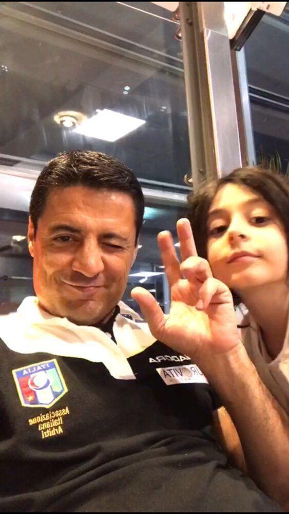 (عکس) تصویر یادگاری فغانی و دخترش قبل از ترک ایران
