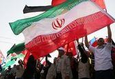 اهتزاز پرچم ایران در غزه +تصاویر