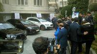 رونمایی از چند خودروی داخلی با حضور روحانی +عکس