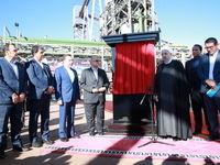 رییس جمهوری کارخانه فولاد بافت کرمان را افتتاح کرد