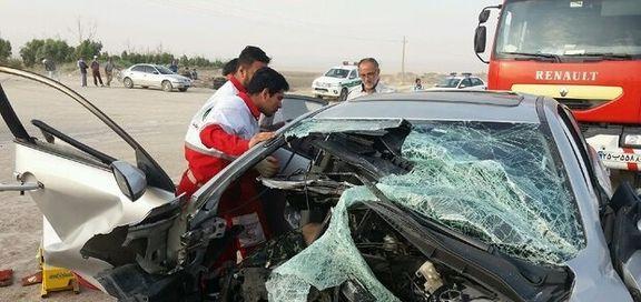 واژگونی خودرو موجب فوت راننده شد