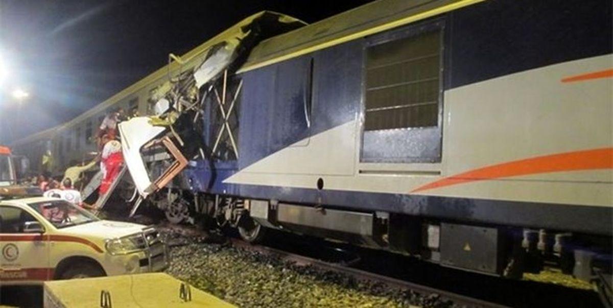 حادثه برخورد قطار ۵مصدوم برجای گذاشت