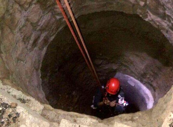 نجات یک نوجوان از چاه 30متری