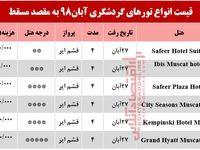 تور مسقط عمان چند تمام میشود؟