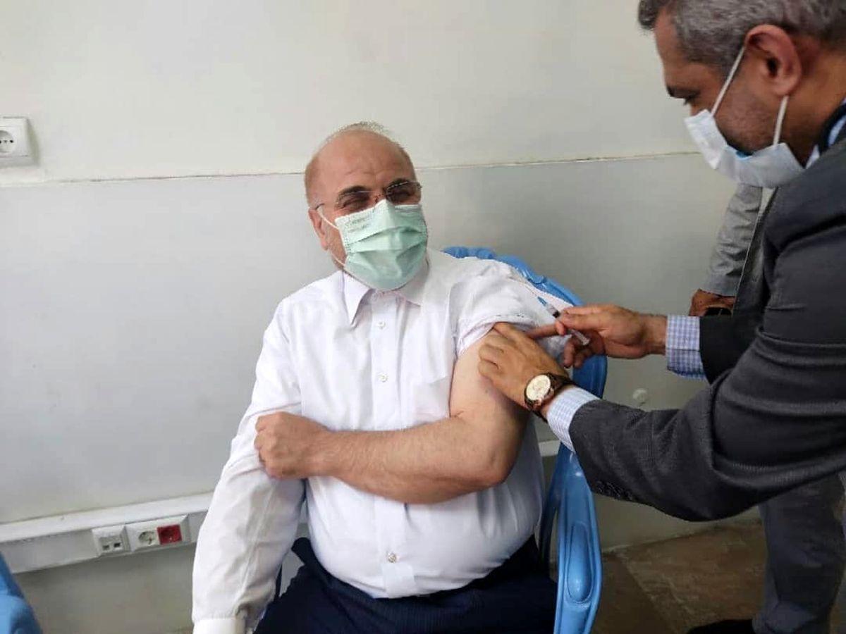 قالیباف دوز اول واکسن برکت را دریافت کرد + عکس