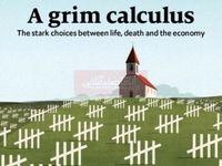 انتخاب بین زندگی، مرگ و اقتصاد، طرح روی جلد هفتهنامه اکونومیست