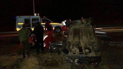 واژگونی مرگبار پراید در اتوبان تهران-قم +عکس