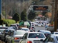سنگینی ترافیک در محور کرج - چالوس