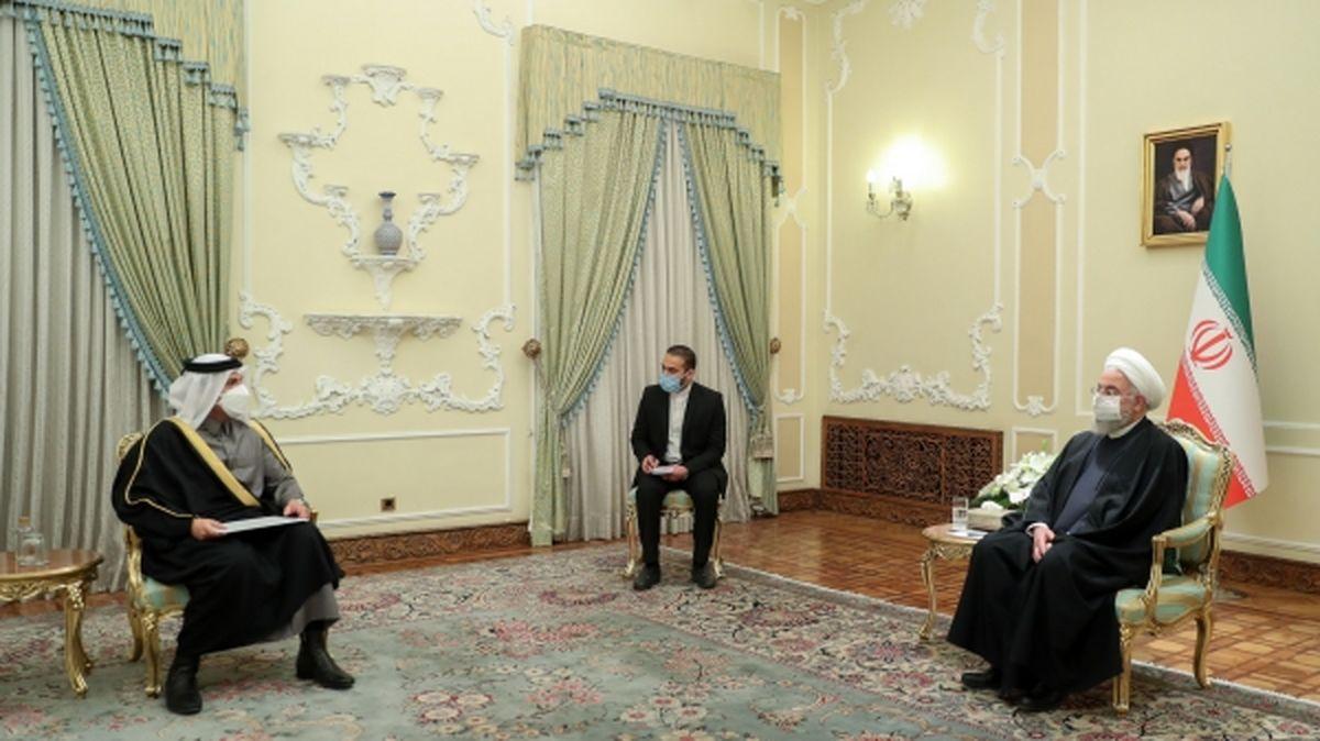 آمریکا به برجام برگردد، ایران هم برمیگردد/ تقدیم پیام کتبی امیر قطر به روحانی