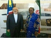 رایزنی ظریف و وزیر خارجه نامیبیا