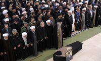 اقامه نماز بر پیکر مرحوم آیت الله هاشمیشاهرودی +عکس