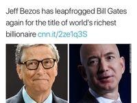 مدیرعامل آمازون ثروتمندترین فرد دنیا شد!