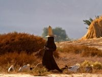 زنان عجیب در بیابانهای یمن +تصاویر