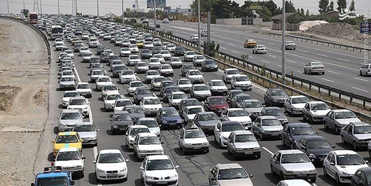 وضعیت ترافیک محورهای خروجی تهران پس از اعلام تعطیلات