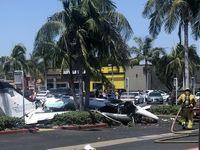 سقوط هواپیما در کالیفرنیا ۵ کشته برجای گذاشت +فیلم