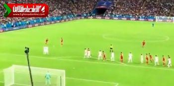 گل ایران در بازی مقابل اسپانیا که قبول نشد +فیلم