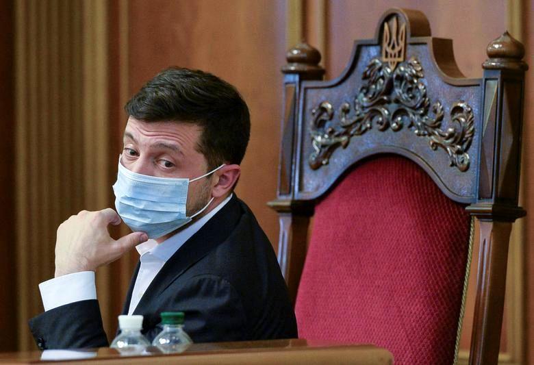 رئیس جمهور اوکراین با ماسک
