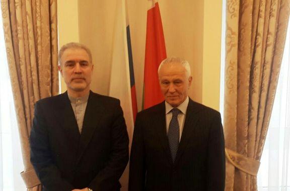 دیدار سفیر ایران در مینسک با دبیر دولت اتحاد (بین بلاروس و روسیه)