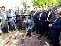 کلنگ زنی یک باب مدرسه در گنبدکاووس با مشارکت بانک ملی ایران