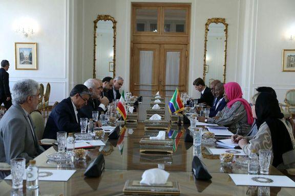 وزیر خارجه آفریقای جنوبی با ظریف دیدار کرد