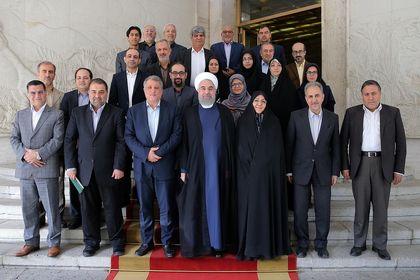 دیدار اعضای شورای شهر تهران با رییس جمهور +تصاویر