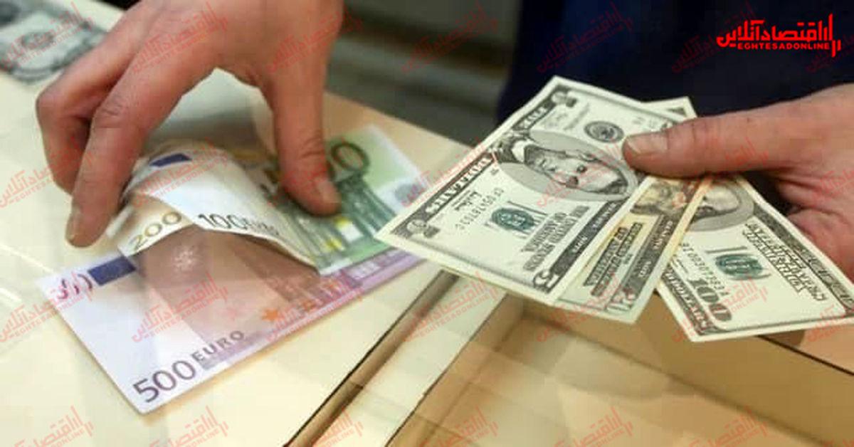 افزایش قیمت دلار و یورو در بازار امروز