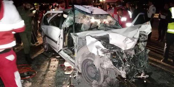 تصادف جادهای ۳کشته و ۲زخمی برجا گذاشت