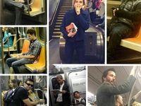 سلبریتیها در مترو! +عکس