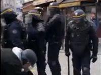 ضرب و شتم یک معترض توسط دستیار امانوئل مکرون +فیلم