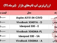 ارزانترین لپتاپهای بازار چند؟ +جدول