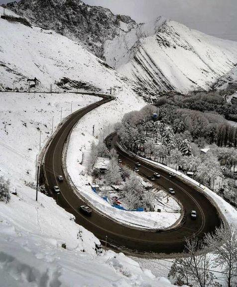 نمایی زیبا از جاده چالوس +عکس