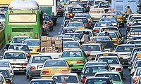 ترافیک پرحجم در مبادی ورودی شهر تهران