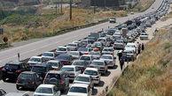 ترافیک وسایل نقلیه در محور ایلام به مهران
