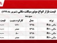 قیمت روز موتورسیکلت مگلی +جدول
