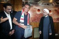 کیروش و اعضای تیم ملی فوتبال به دیدار روحانی رفتند