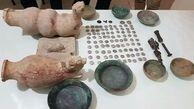 کشف اشیای تاریخی هزاره اول قبل از میلاد و سکههای اشکانی