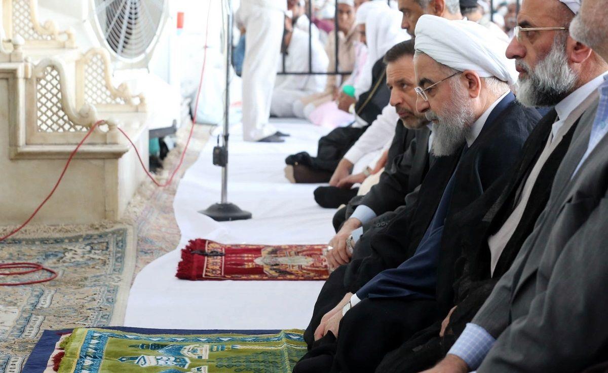 حضور رئیس جمهوری در نمازجمعه شهر حیدرآباد