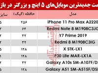 قیمت موبایلهای ۵اینچ و بالاتر در بازار؟ +جدول