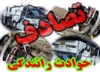 یک کشته در تصادف تریلی با اتوبوس زائران عراقی