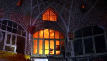 آتش سوزی در بازار تاریخی تبریز +تصاویر