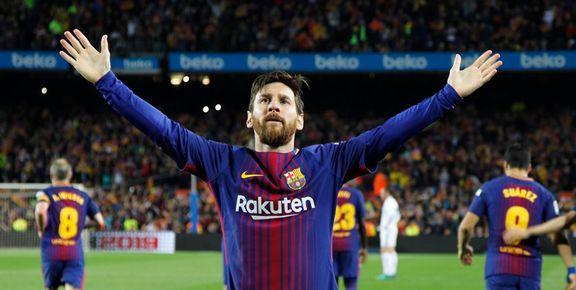 مسی بارسلونا را قهرمان لالیگا کرد