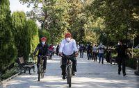 دوچرخه سواری شهردار تهران با سفرای چند کشور +عکس