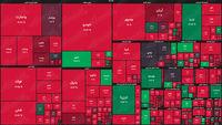 نقشه بورس امروز بر اساس ارزش معاملات/ شاخص کل بورس بیرحمانه به افت خودش ادامه میدهد
