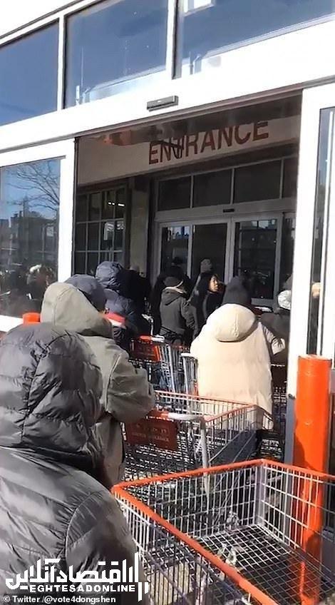 هجوم نیـویورکیها به فروشـگاهها در پی شیوع کـرونا