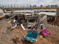 مرگ دلخراش 7 مراکشی در خروج قطار از ریل +تصاویر